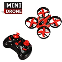 Mini RC Quadcopter Drone 2.4G 4 Channel 6 Axis With 3D Flip,Remote Control Nano Drone for Kids Adults Beginners With LED Drone Quadcopter Lights