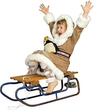 Esquimal niña Inuit infantil Disfraz marrón, blanco: Amazon.es ...
