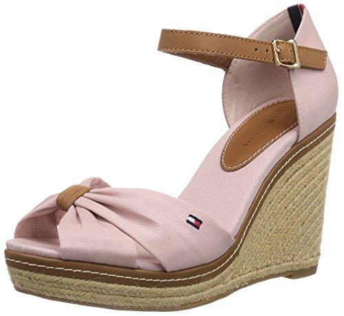 Tommy Hilfiger EMERY 54D Damen Offene Sandalen mit Keilabsatz Pink (DUSTY ROSE 615)