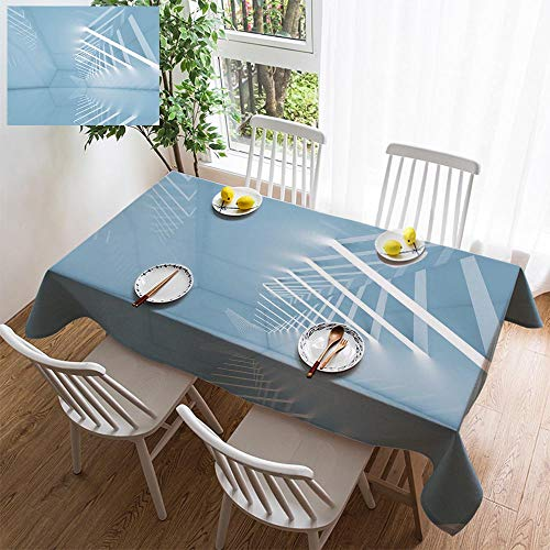 HOOMORE Simple Color Cotton Linen Tablecloth,Washable, 3D Interior Background with Ceiling Lights Decorating Restaurant - Kitchen School Coffee Shop Rectangular 54×39in