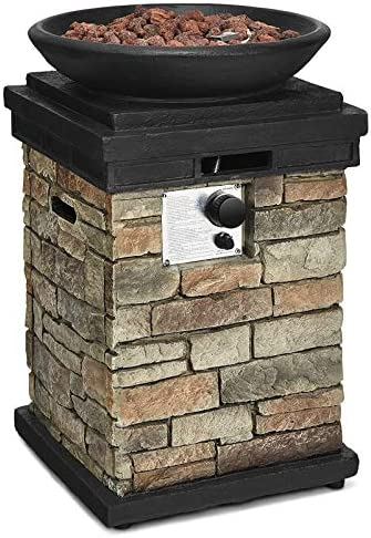 Happygrill Outdoor Propane Gas Fire Pit Table