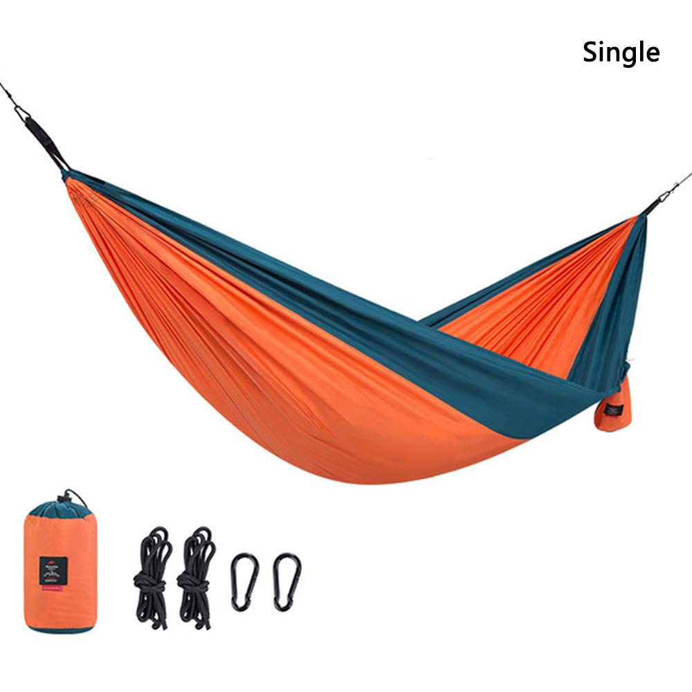 AMAZOIN Single&Double Camping Hammock - Lightweight Portable Pongee Parachute Hammock Orange Load 180 Kg for Camping, Outdoor, Backpack, Travel,Single