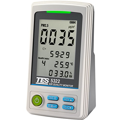 TES 5322 PM2.5 Air Quality Monitor ( VOCs-Volatile organic compounds ) by TES