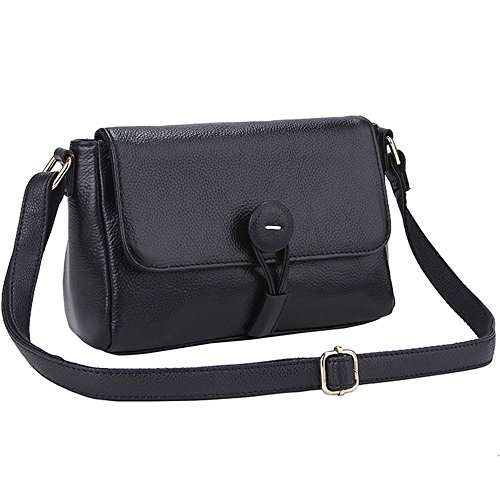 Lecxci Leather Crossbody Shoulder Messenger