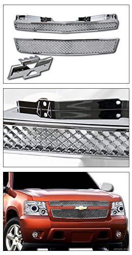 Amazon.com: CHROME MESH FRONT HOOD BUMPER GRILL GRILLE ABS ...