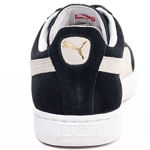 UK Mixte Noir Black EU Sneakers Suede 35 Puma Adulte Classic White Basses 03 5 3 xIwqa7YB6