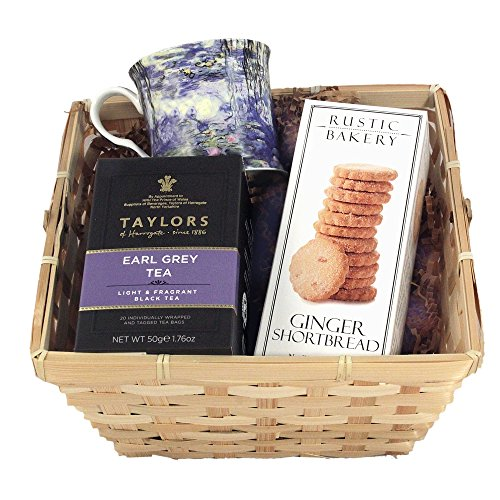 Earl Grey Tea Gift Basket- Earl Grey Tea with Tea Mug and Shortbread Tea Cookies