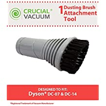 1 Dyson DC07, DC14, DC17 Replacement Dusting Swivel Head Brush Tool Attachment Designed To Fit Dyson DC07, DC14, DC17 Upright Vacuum Cleaners, Compare to Part # 900188-16, 900188-16, Designed & Engineered By Crucial Vacuum