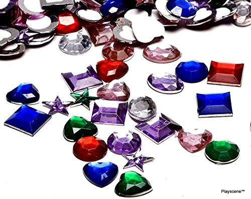 Playscene Craft Jewels With Adhesive Back, Pack of 500 1/2 Inch Jewels ! ! (Arts And Crafts Jewels)