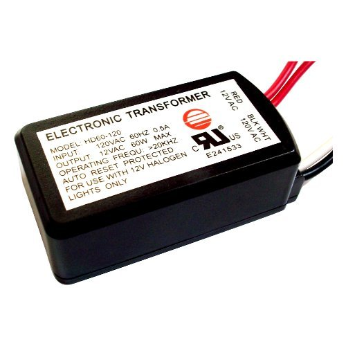 60W ELECTRONIC LOW VOLTAGE HALOGEN TRANSFORMER HD60-120