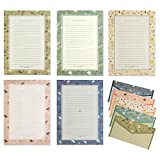 IMagicoo 36 Cute Lined Writing Stationery Paper Letter Set with 18 Envelope/Envelope Seal Sticker (Style-2)