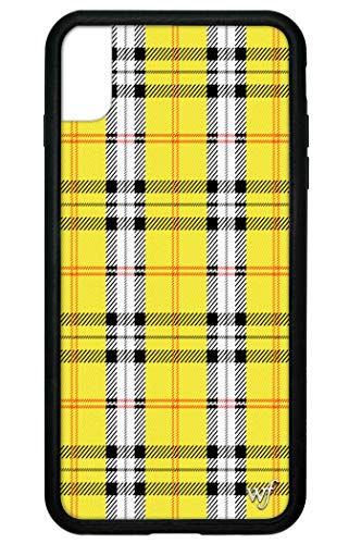 Wildflower Limited Edition iPhone Case for iPhone Xs Max (Yellow Plaid)