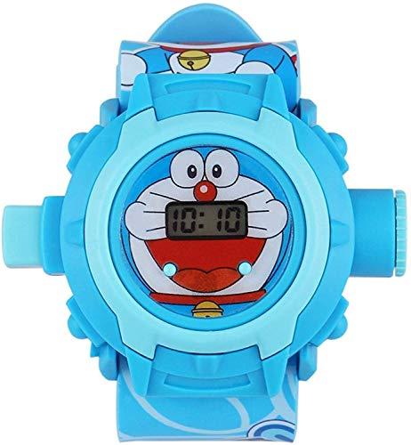 STYLEFLIX Digital Doraemon Projector Watch for Kids, 24 Digital Projector Images. Blue
