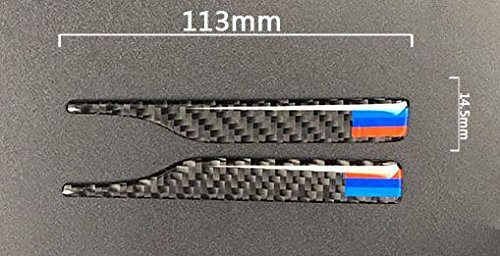 Biznon Set di 2/aste in fibra di carbonio specchietto retrovisore anti-collisione anti-prurito schermo per BMW serie 3/5/GT 7/x 3/x4/2011/ /2017/x 5/X6/2008/ /2017/Long m Pow