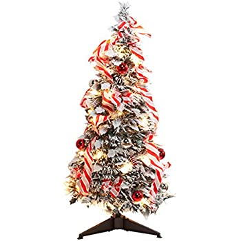 fox valley traders 3 snow frosted candy cane pull up tree by holiday peaktm