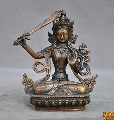 SIYAO Wedding Decoration Tibetan Buddhism Bronze Hold Sword Manjushri Tara Kwan-Yin GuanYin Buddha Statue