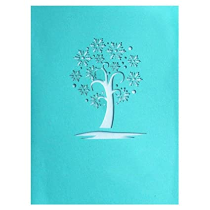 TOOGOO 3D Snowflake Pop Up Greeting Cards Happy Birthday Lover Valentines Anniversary