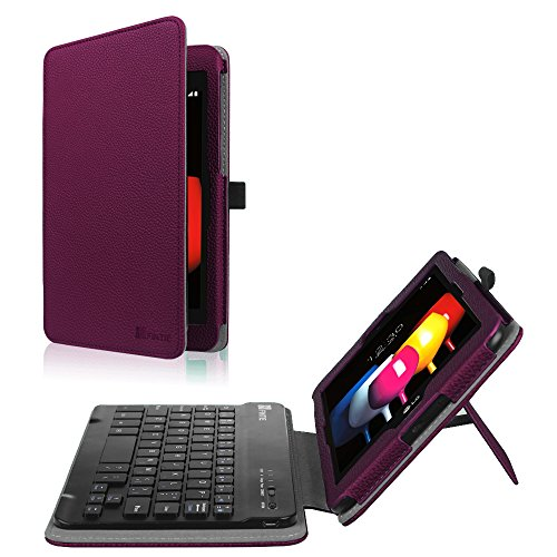 Fintie T-Mobile LG G Pad X2 8.0 Plus Keyboard Case (Support Extra Battery Plus Pack), Slim Fit Folio Cover with Removable Wireless Bluetooth Keyboard for LG GPad X2 8.0 Plus Model V530, Purple