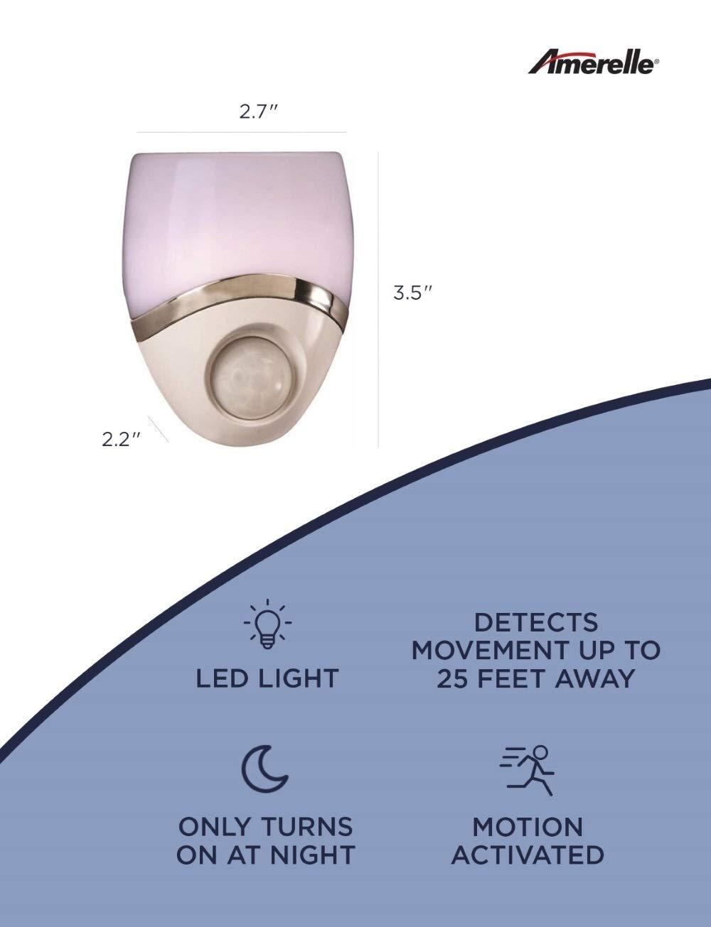 b44eb1eb447d Westek Motion-Sensor LED Night Light - Plug-In LED Lights Turn on When  Sensor Detects Motion - Ideal for Bedroom, Bathroom, Hallway, Nursery,  Garage, ...