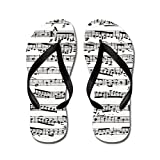 CafePress - Music Notes - Flip Flops, Funny Thong Sandals, Beach Sandals