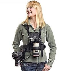 Nicama Doppelter Schultergurt Kameragurt , Doppel Kamera Weste Tragend Fotograf Chest Harness Carrier Brustgeschirr Vest…