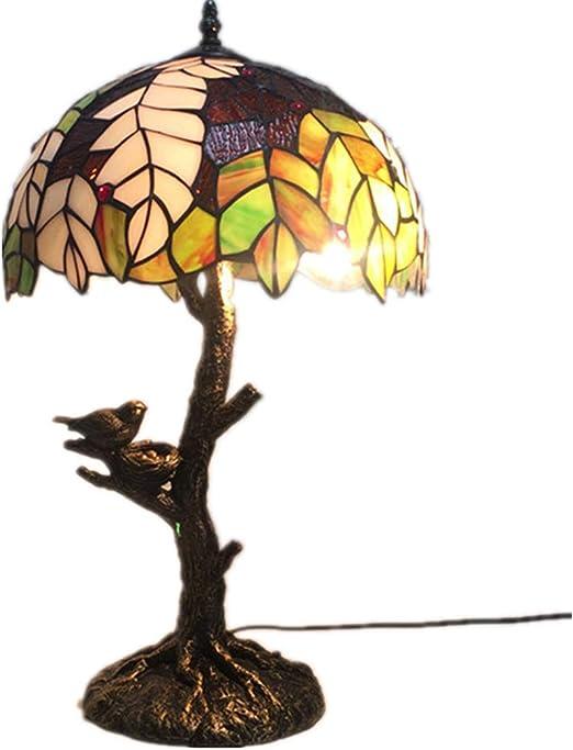 LPCHEN 12 Pulgadas De Lámpara De Mesa, Tiffany Diseño Floral ...