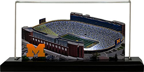 Home Fields Michigan Wolverines Michigan Stadium, Small Lighted in Display Case
