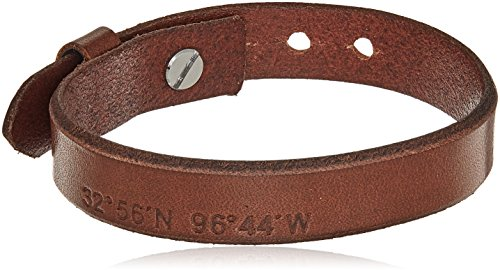 Fossil Vintage Casual Light Brown Leather Bangle Bracelet