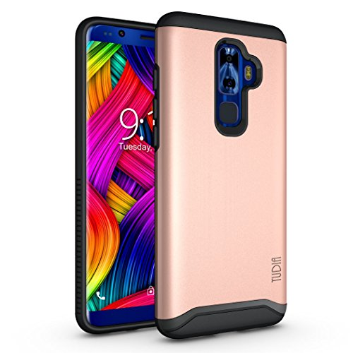 Nuu Mobile G3 Case, TUDIA Slim-Fit HEAVY DUTY [MERGE] EXTREME Protection/Rugged but Slim Dual Layer Case for Nuu Mobile G3 Android Smartphone (Rose Gold) by TUDIA
