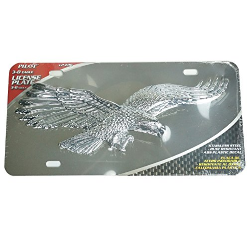 3d Nissan License Stainless Plate (3D Pop Out Flying Eagle Chrome Plating Stainless Steel License Plate)