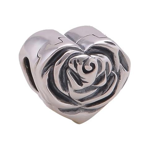 EVERBLING morado esmalte caja de anillos de boda 925 pulsera de plata de ley compatible con