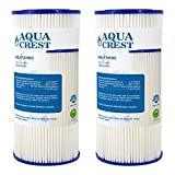 Kitchen Appliance Packages Ge 2 Pack AQUACREST FXHSC Replacement for GE FXHSC, Culligan R50-BBSA, Pentek R50-BB and DuPont WFHDC3001, American Plumber W50PEHD Whole House Sediment Filter (Package May Vary)