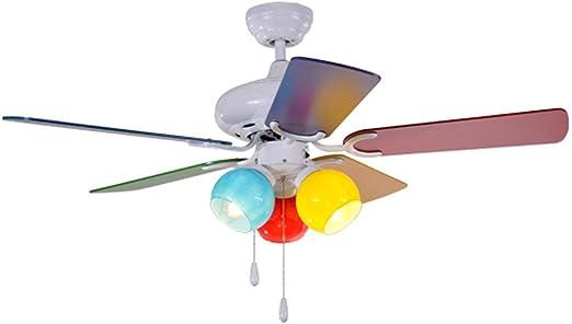 Ventilador de techo para niños, luces para fans del bebé, moderna ...