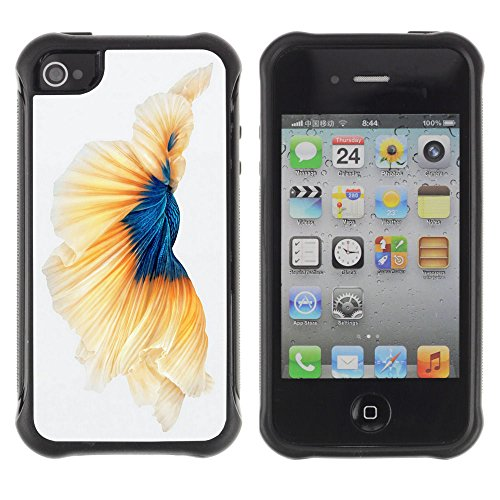 Apple Iphone 4 / 4S - Fantasy Fish Gold Art