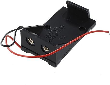 SODIAL(R)2pzs Caja estuche sostenedor de bateria de pilas 9V de ...