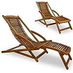 Sunlounger Sunbed Wooden Lounger Gard...