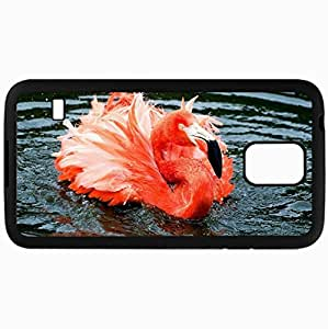 Fashion Unique Design Protective Cellphone Back Cover Case For Samsung GalaxyS5 Case Flamingo Black