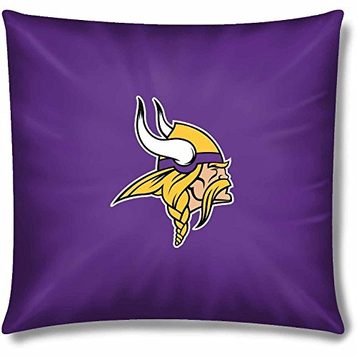 NFL Official 15'' Duck Toss Pillow, Set of 2 - Minnesota Vikings by Northwest