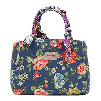 Jane Lily Baguette Bags for Women - Canvas, Blue
