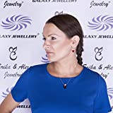 """Sterling Silver Pendant Necklace with Swarovski Red Heart Crystal Snake Chain 18"""" Ideal Gift for Women and Girls - Comes In Gift Box Bild 4"""