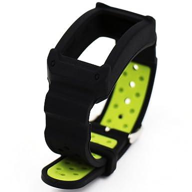 Woodln Silicón Repuesto Correa Reloj Band para Samsung Gear Fit2 SM-R360 Actividad Deporte Inteligente Accesorios Correas de Reloj (Black Green)