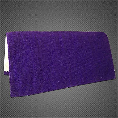 HILASON Made in USA Western Acrylic Wool Shock Buster Saddle Pad Blanket Purple