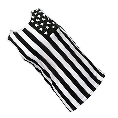 タイプライター憎しみ多数のDovewill メンズ ヒップホップ  ダンス アメリカ国旗柄 タンクトップ シャツ 柔らかい 全2色4サイズ