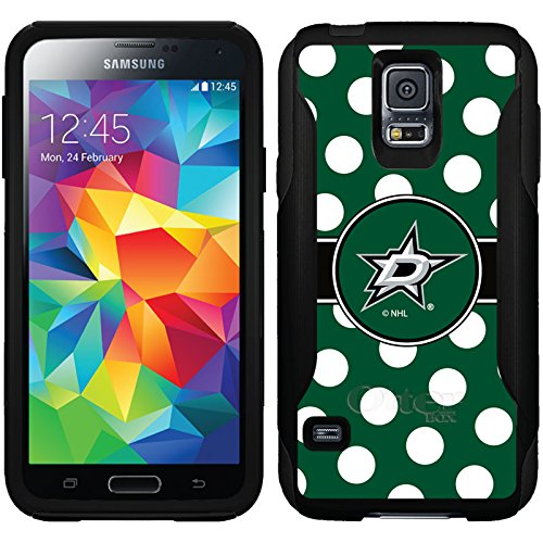 (Coveroo Commuter Series Cell Phone Case for Samsung Galaxy S5 - Retail Packaging - Dallas Stars Polka Dots)