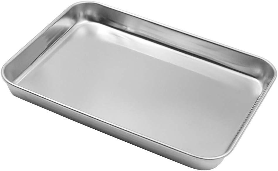 Muka Stainless Steel Baking Pan Cookie Sheet, Toaster Oven Tray-9.3