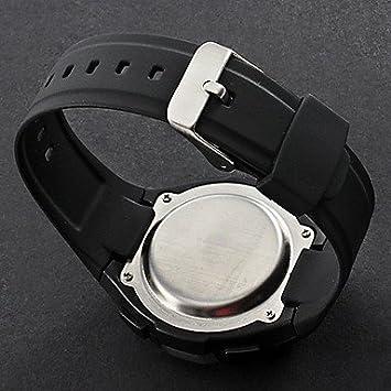 Unisex corazón de la caloría del contador de silicona reloj digital del monitor del ritmo Style Automático (Negro): Amazon.es: Deportes y aire libre