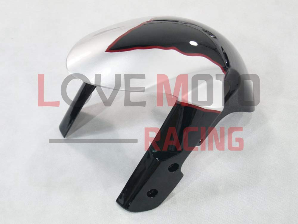 LoveMoto ブルー/イエローフェアリング スズキ suzuki GSXR1000 GSXR 1000 2005 2006 K5 05 06 GSX R1000 K5 ABS射出成型プラスチックオートバイフェアリングセットのキット ブラック ホワイト   B07KF81YMW