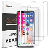 iPhone X Screen Protector, Trianium (3 Packs, Clear) iPhone X Tempered Glass Screen with Alignment Case Frame [3D Touch] 0.25mm Glass Protectors for Apple iPhoneX/10 Phone 2017 (3-Pack)