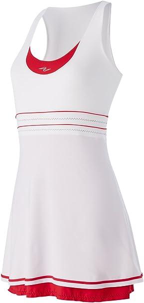 Naffta Tenis Padel - Vestido para Mujer, Color Blanco/Rojo, Talla ...