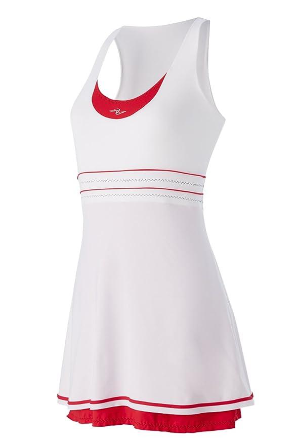 Naffta Tenis Padel - Vestido para Mujer, Color Blanco/Rojo ...